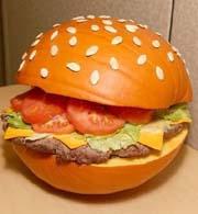 la citrouille du hamburger
