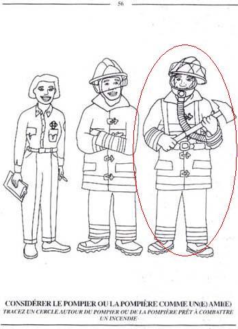 considérer le pompier ou la pompière comme un(e) ami(e)
