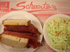 Sandwiche viande fumée