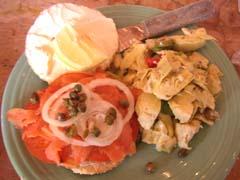 Bagle sandwich au saumon