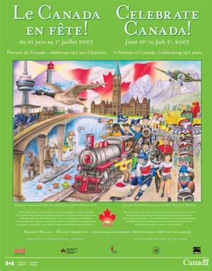 Affiche officielle pour Le Canada en fête! 2007